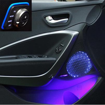 LED подсветка динамиков передних дверей HYUNDAI Santa Fe DM